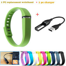 1 PC Replacement Wrist Band+1PC Charger For Fitbit Flex Bracelet No Tracker New