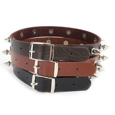 Fashion Adjustable Leather Choker Necklace Chain Spike Rivet Buckle Punk Gothic