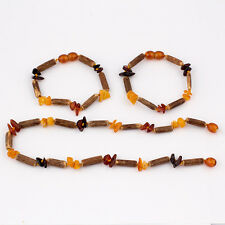 Genuine Amber Baby Teething Necklace Bracelet/Anklet Chips Beads and Hazelwood