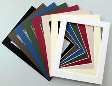 "A4 Cardboard Photo/Picture MOUNTS - Apertures 7x5"" or 8x6"" - Choice of colours"