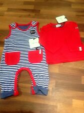 Baby boys reversible dungarees & T Shirt by Lilly & Sid