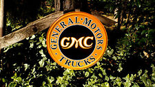 GMC General Motors Chevrolet Chevy Trucks Tin Wall Decor Advertising Sign Signs