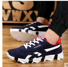 Mens's Fashion Lace Up Flat Casual Athletic Sports Running Sneakers Trainers