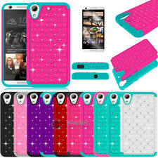 Shockproof Rugged Hybrid Rubber Luxury Bling Case Cover For HTC Desire 626 626S
