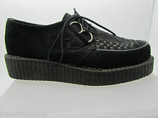 New Rare Retro Hand Made Uk Shoes Black Suede Creepers Rock Punk Fashions Uk 3