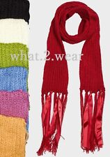 Lili World Ladies Womens Long Knitted Scarf  Scarves Size :210cm x 17cm