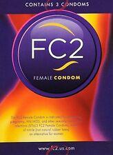 NEW FC2 Female Condom  Sealed package exp.2018-2021 Choose Quantity