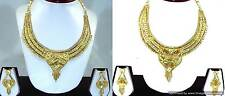 Bollywood Indian Fashion Pretty Gold Plated Necklace Earrings set with Meenawork