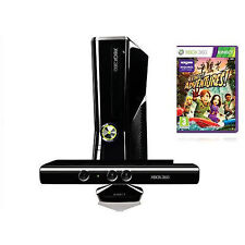 Microsoft Xbox 360 S Kinect & Adventures Bundle 4 GB Matte Black Console (NTSC)