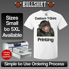 Mens Your Image Here Custom T-Shirt Printing - Design Your Own Personalised Top