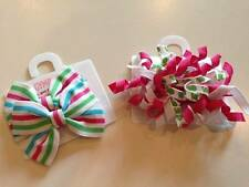 NWT Gymboree Tennis Match Curly Loop Turtle or Striped Ribbon Bow Barrettes