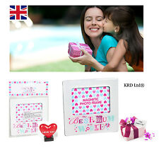BEST MUM Magnetic Photo Frame Mothers Day Birthday Gift With LOVE HEART ORNAMENT