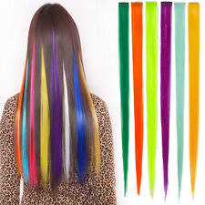 1Pcs Women Multicolor Long Straight Synthetic Clip in on Hair Extensions Piece