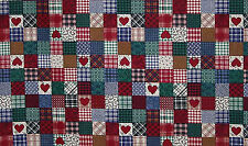Early American Patchwork Patch Blocks 100% Cotton Fabric BTY or Half Yard w6/32