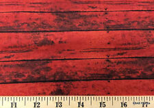 Red Barn Wood Fabric Lumber Wood Grain Landscape Cotton Quilting Fabric t4/16