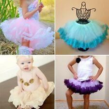 Baby Girl's Tulle Tutu Skirt Princess Party Ballet Dance Dress Cake Tutus L44