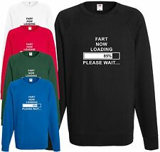 Fart Now Loading Please Wait Sweatshirt Funny Gift Present Dad Xmas Jumper Joke