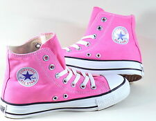 unisex converse all star hi canvas pumps trainer shoes pink white uk3,uk4