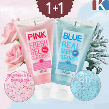 1+1 Vitamin E Capsule Blue Real Deep Cleanser + Pink Fresh Gel Cleanser 140ml