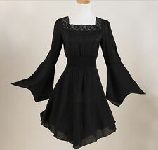 lace black gothic tunic top long sleeves plus size women online blouse shirt