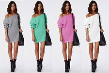 New Ladies Pullover Sweater Knit Tunic Sweater Cardigan Long Sleeve Blouse L/XL