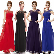 New Long Maxi Evening Bridesmaid Formal Party Prom Dress Gown Size 6-16