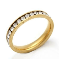 Stainless Steel Ring CZ Ring Mens Womens Band Ring Size 7 8 9 10 11