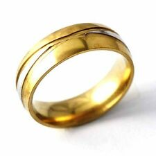 Unisex yellow Gold Filled Womens Mens Band Promise Love Band Ring Size 7-11