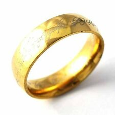 Yellow gold filled Mens Womens lord of the Promise Love Band Rings 7 8 9 10 11