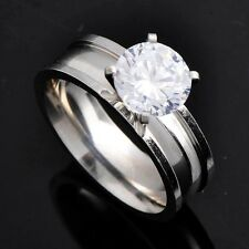 Womens Fashion Promise Love Band Ring jewelry CZ wedding GOLD Size 7,8,9,10
