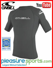 O'Neill Men's Skins Rashguard Short Sleeve 50+ UV Protection Rash Guard NEW!