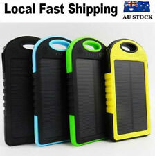 Green Solar Power Bank Battery Charger Mobile Phone  8000 mah Panel USB External
