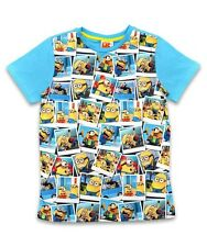 NEW Boys / Girls Despicable Me Minions Polaroid Pictures T Shirt Ages 6-10yrs