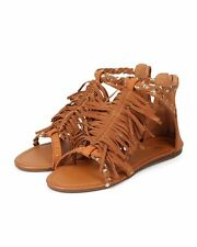 New Women Betani Monica-4 Mix Media Open Toe Braided Fringe Gladiator Sandal Sz