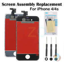 Replacement LCD Touch Screen Digitizer Glass Assembly for iPhone 4 4S + Tools