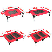 Heavy Duty Pet Dog Bed Trampoline Hammock Bed Foldable Frame Cat Puppy Cover Red