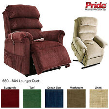 Pride 660 Mini Lounger Duet Rise And Recline Chair