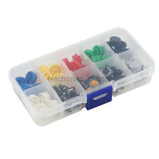 12*12*7.3mm Tact Switch /w Round Button Cap 9.58*5.1mm in 10 Slots Storage Box