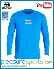 Mens Billabong Chronicle Rashguard Loose Fit Long Sleeve 50+ UV PROTECTION Royal