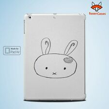 Cute Bunny Rabbit Hamster Sketch Drawin Case Cover for iPad