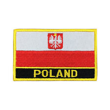 Poland Flag Patch Embroidered National Flag Iron On Patch