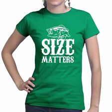 Size Baiter Funny Fishing Carp Bait Rod Tackle Fly For Sea Ladies Womens T shirt