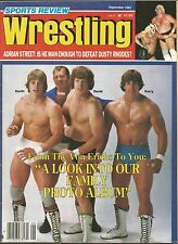 SEPTEMBER 1983 SPORTS REVIEW WRESTLING MAGAZINE VON ERICH KEVIN KERRY FRITZ DAVE