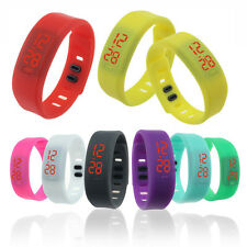 New Colorful Mens Womens Silicone LED Rubber Bracelet Touch Digital Wrist Watch