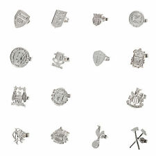 Official Football Club Crested Sterling Silver Stud Earring