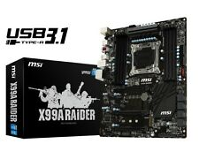 MSI X99A Raider Motherboard CPU i7 LGA2011-3 Intel DDR4 RAID USB 3.1 CrossFire