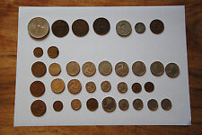 Old English coin collection, Queen mother penny shillings farthing 1919 onwards