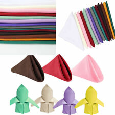 "250 Packs 20"" x 20"" Polyester Napkins Wedding Party Event Catering 24 COLORS USA"