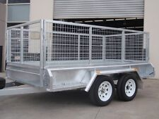 10x5 Tandem Trailer Galvanised Heavy Duty With 300mm Sides & 800mm Mesh Cage