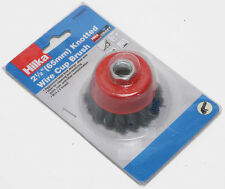 NEW Hilka 65mm Twist Knot Wire Cup Brush for Angle Grinder M14 for Rust Removing